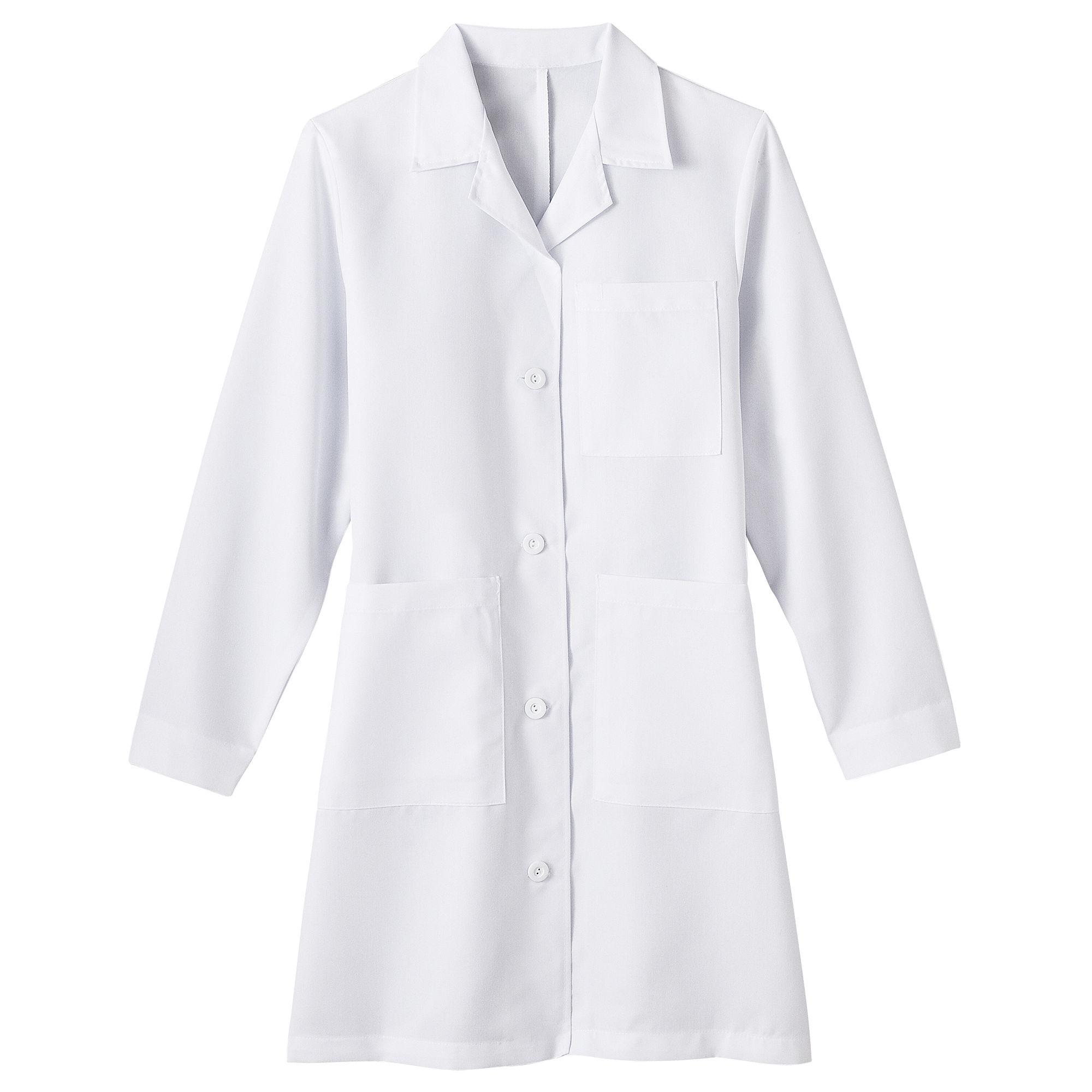 Fundamentals by White Swan Meta Ladies 5-Pocket Lab Coat - Big & Tall plus size,  plus size fashion plus size appare