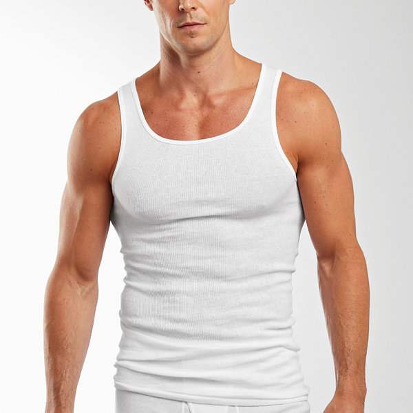 Hanes® Men's FreshIQ™ 4-pk. 100% Cotton Tagless Tank