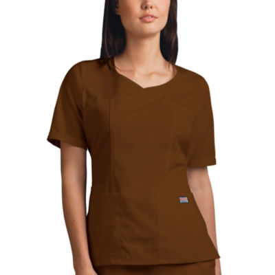 Cherokee Womens V Neck Scrub Top