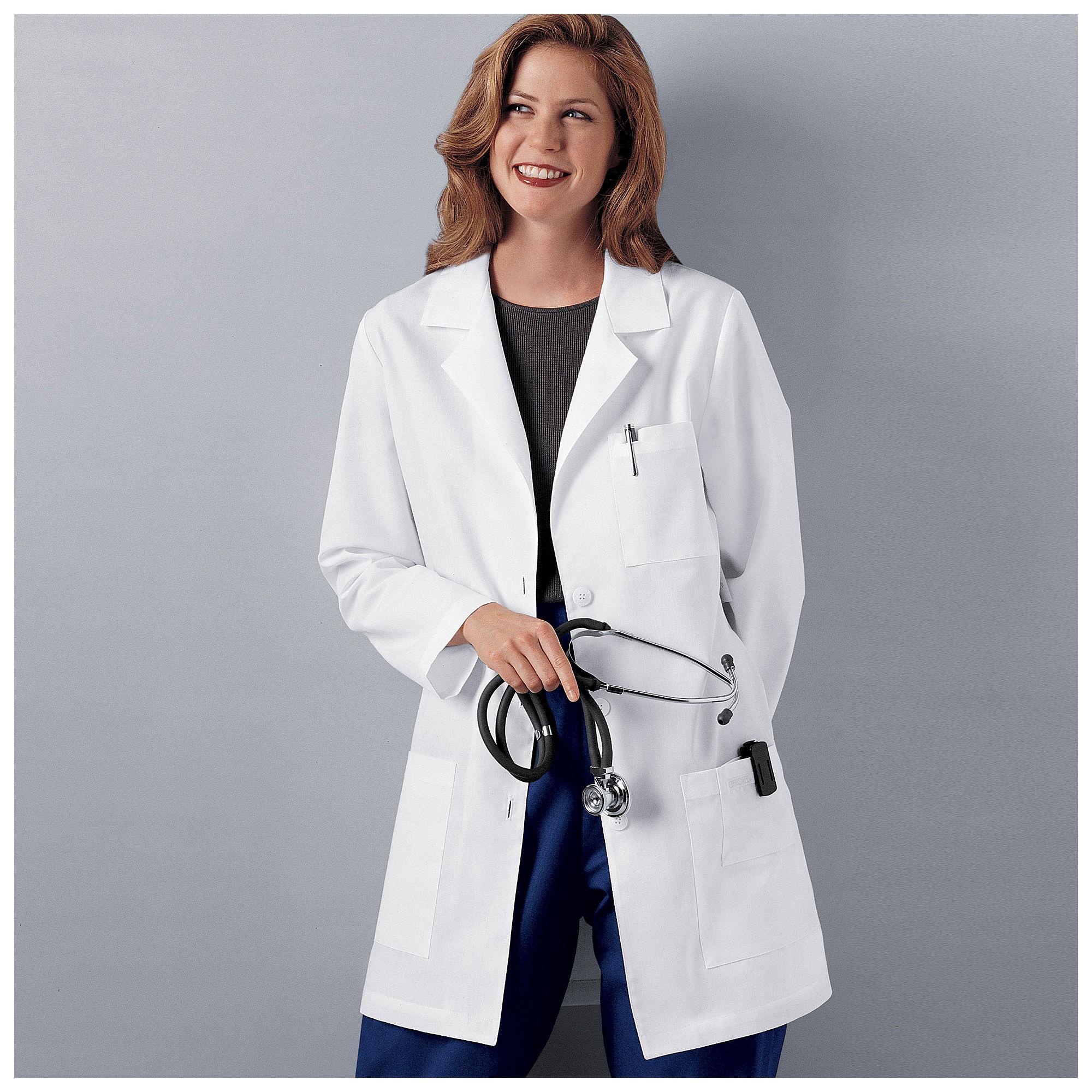 "Cherokee Womens 32"" Lab Coat plus size,  plus size fashion plus size appare"