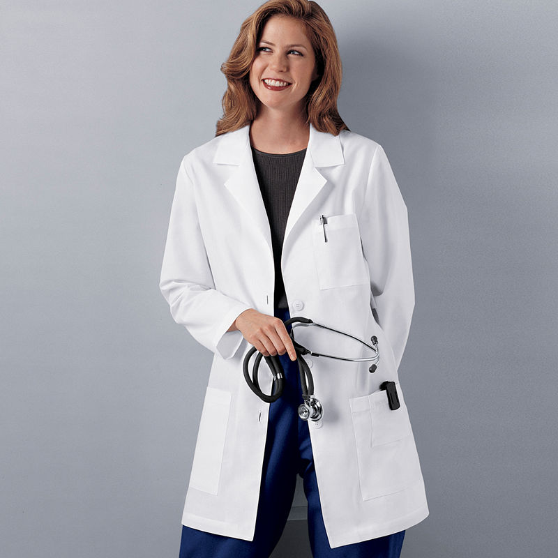 "Cherokee Womens 32"" Lab Coat plus size,  plus size fashion plus size appare"