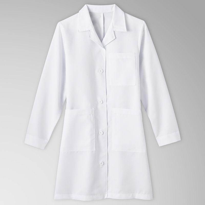 Meta Ladies 5-Pocket Lab Coat-Big & Tall plus size,  plus size fashion plus size appare