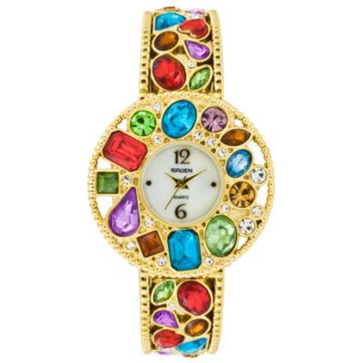 Multicolor Stone Bangle Watch