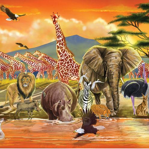Melissa & Doug® 100-pc. Safari Floor Puzzle
