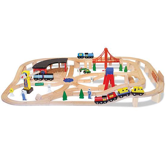 Melissa & Doug® Wooden Railway Set