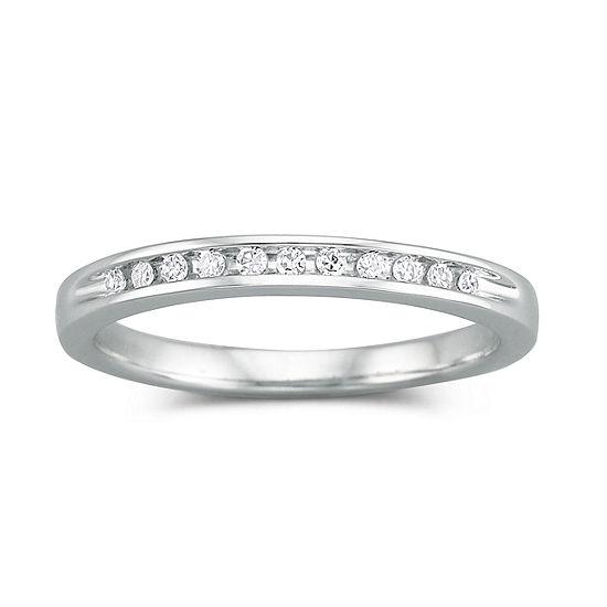 I Said Yes™ 1/10 CT. T.W. Certified Genuine Diamond Wedding Band