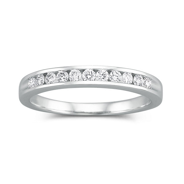 I Said Yes 1 4 Ct T W Certified Diamond Wedding Band