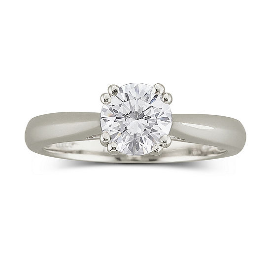 DiamonArt® 1 CT. T.W Cubic Zirconia Solitaire Ring