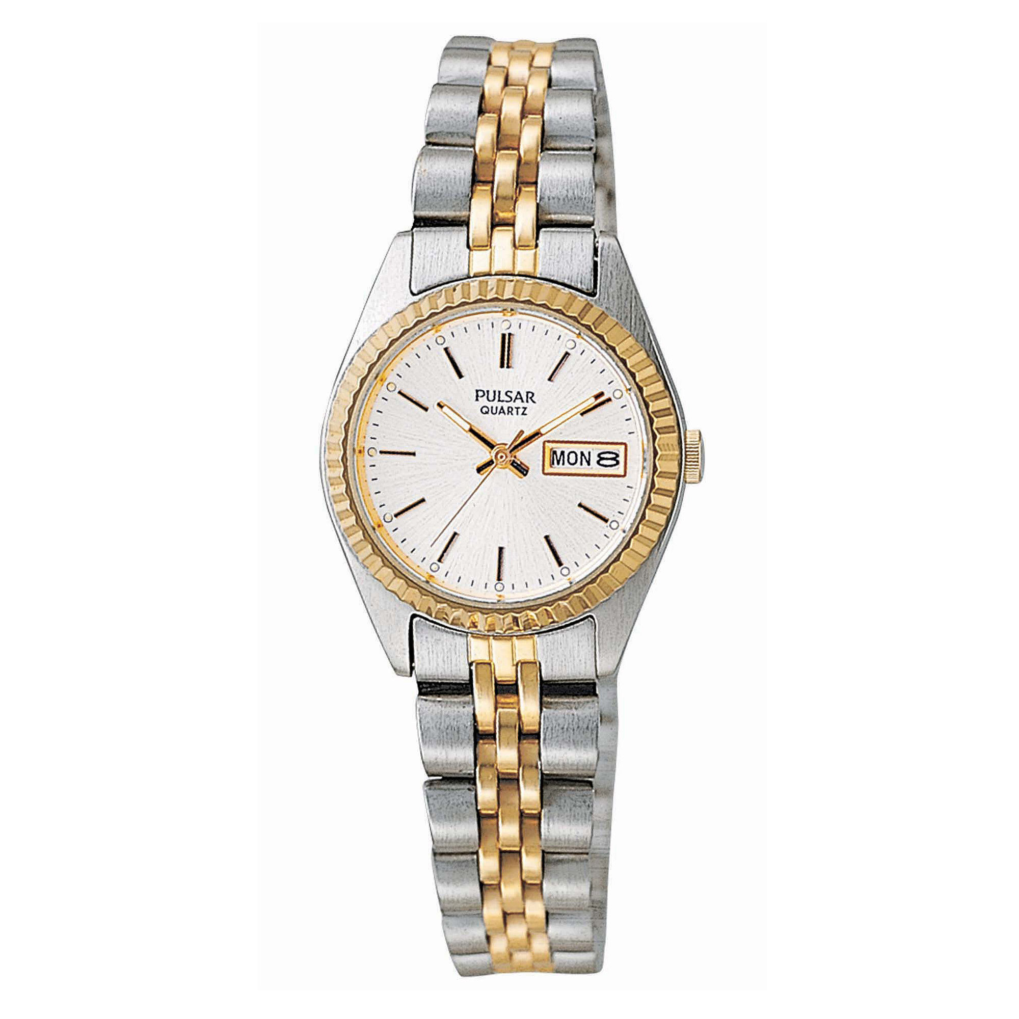 Pulsar Womens Two-Tone Stainless Steel Watch PXX006