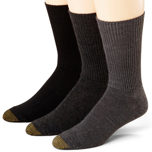 Gold Toe® 3-pk. Casual Cotton Fluffies® Crew Socks–Extended Sizes