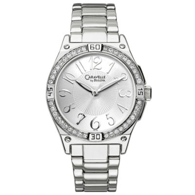 Caravelle® Crystal Bezel Watch
