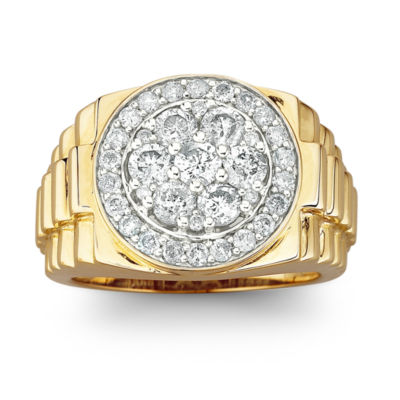 Men's Diamond Cluster Ring 2 CT. T.W. 10K Gold