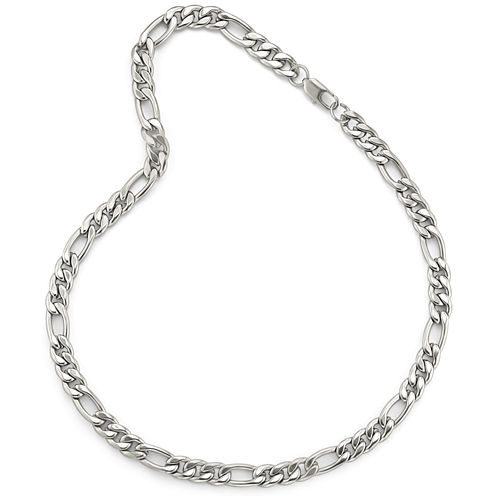 """Men's 22"""" 9.5mm Figaro Chain in Stainless Steel"""