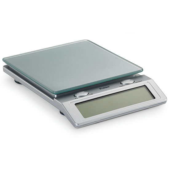 Polder Easy Read Gl Top Digital Kitchen Scale