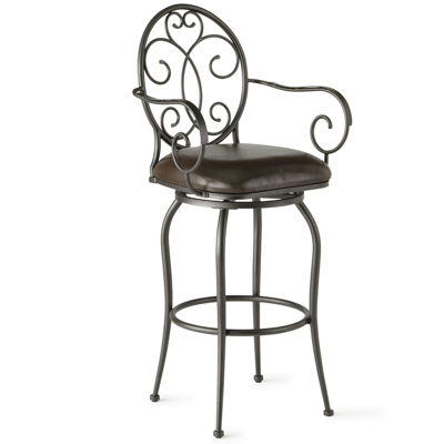 Bethany Swivel Barstool with Back