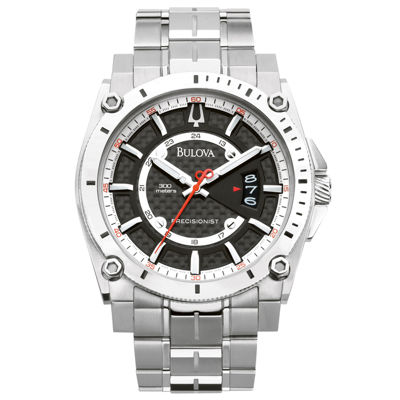 Bulova Mens Silver Tone Strap Watch-96b133