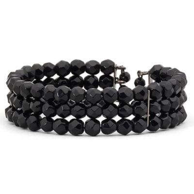 Mixit™ Jet Beaded Coil Bracelet