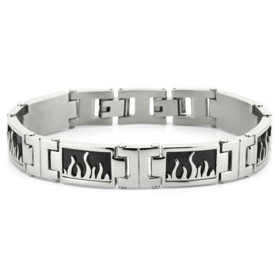 Men's Flame Bracelet Stainless Steel