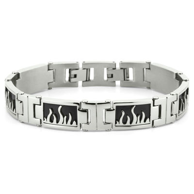 Men's Flame Bracelet Stainless Steel