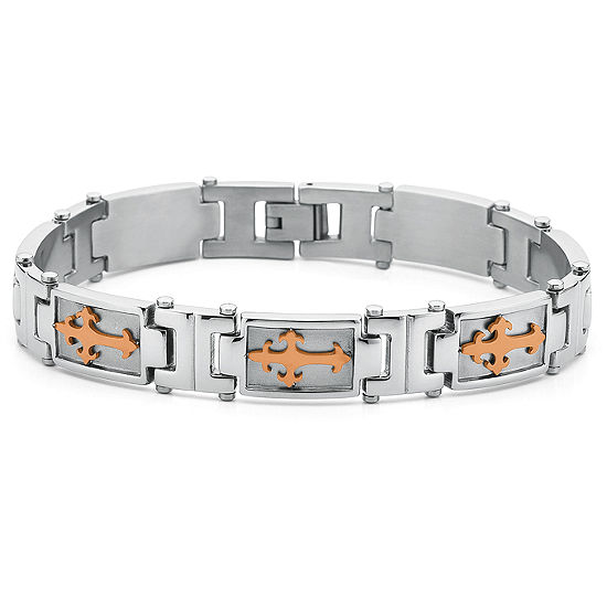 Men S Cross Bracelet Stainless Steel