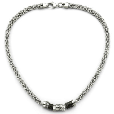 Men's Beaded Necklace Stainless Steel