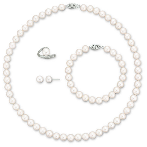 Cultured Freshwater Pearl 4-pc. Boxed Jewelry Set