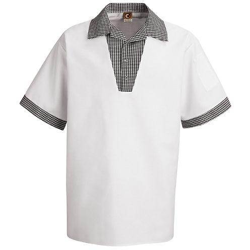 Chef Designs® Snappy V-Neck Chef Shirt