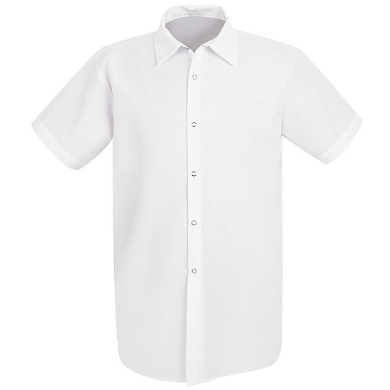 Chef Designs® 5050 Short Sleeve Long Cook Snap Front Shirt