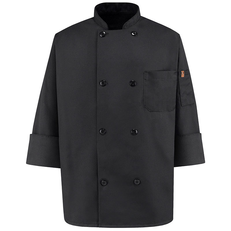 Chef Designs Black Chef Coat-Big & Tall plus size,  plus size fashion plus size appare