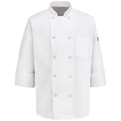 Chef Designs® 10-Button Chef Coat–Big & Tall
