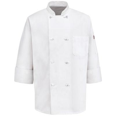 Chef Designs® 8-Knot Button Chef Coat–Big & Tall