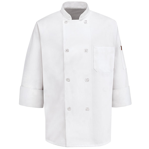 Chef Designs® 8-Button Chef Coat–Big & Tall