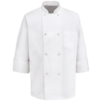 Chef Designs® Long-Sleeve Chef Coat–Big & Tall