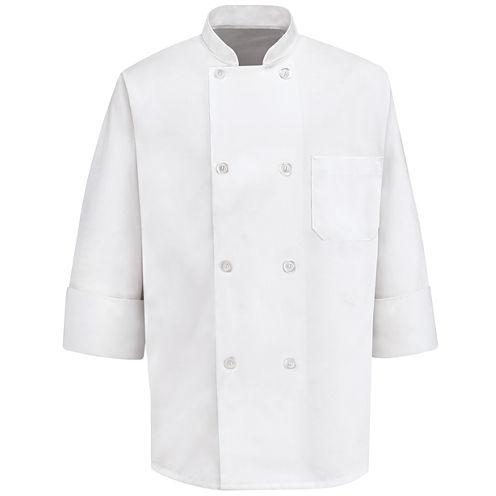 Chef Designs® 8-Pearl Button Chef Coat–Big & Tall