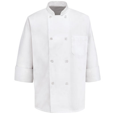 Chef Designs® 8-Pearl Button Chef Coat–Big & Tall