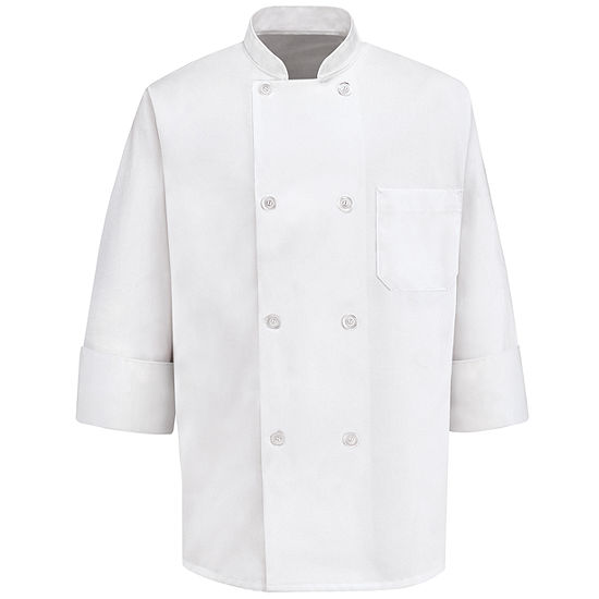 Chef Designs® 0403 Men's 8-Pearl Button Chef Coat–Big & Tall