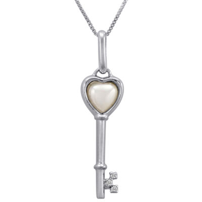 Mother-of-Pearl Key Pendant