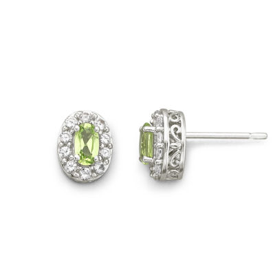 Birthstone Genuine Peridot Earrings