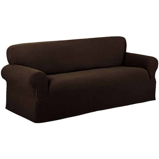Maytex Smart Cover® Reeves Grid Stretch 1 Piece Loveseat Furniture Cover Slipcover