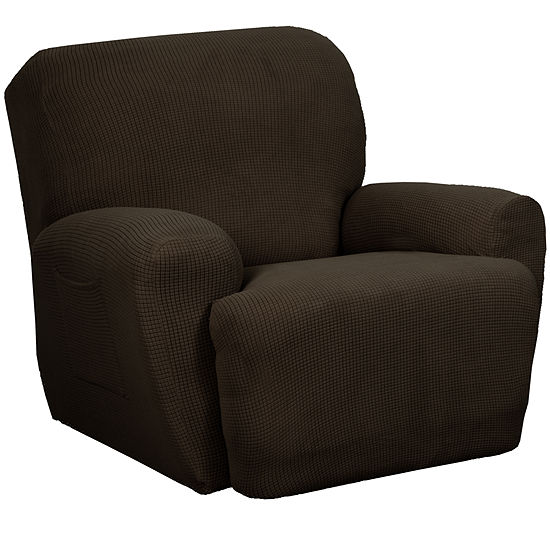 Maytex Smart Cover® Reeves Grid Stretch 4 Piece Recliner Chair Furniture Cover Slipcover
