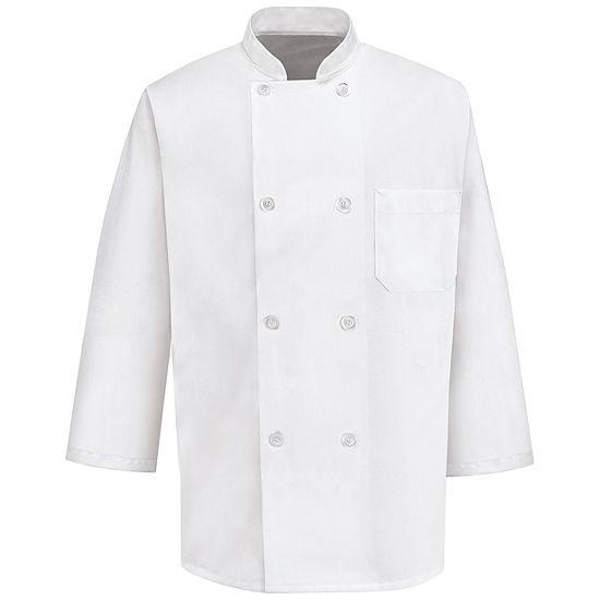 Chef Designs® 0402 Men's 3/4-Sleeve 8 Button Chef Coat