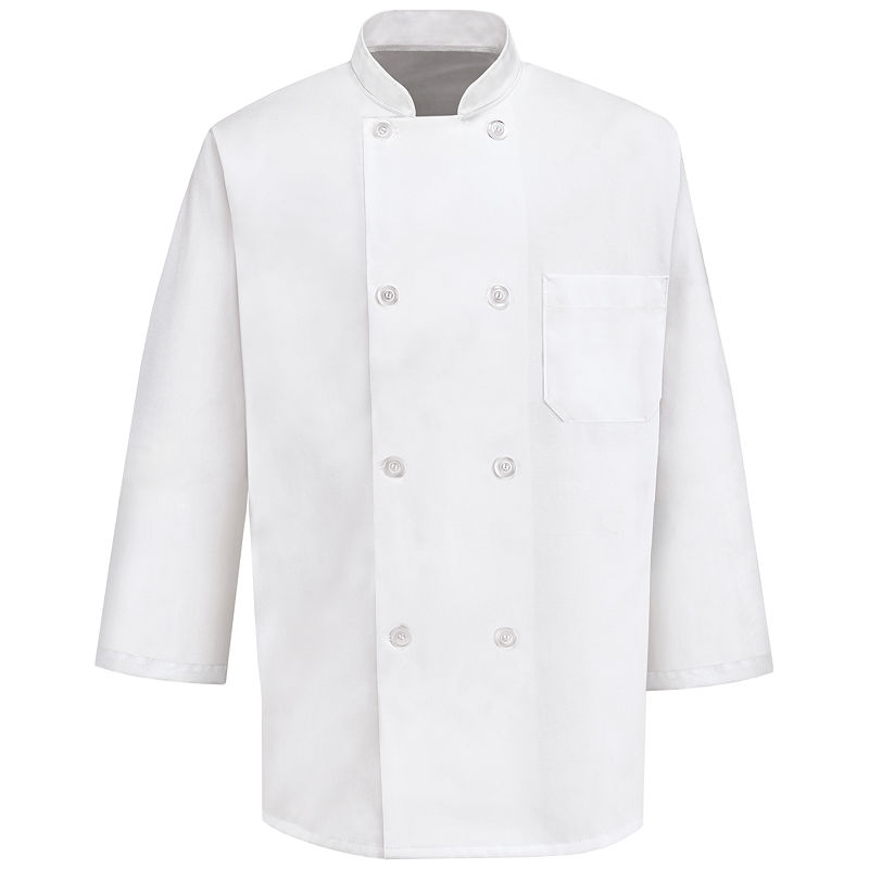Chef Designs 3/4-Sleeve Chef Coat plus size,  plus size fashion plus size appare