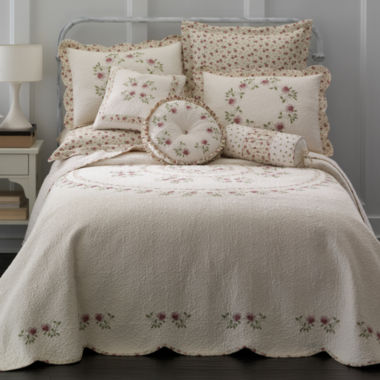 jcpenney.com | Home Expressions™ Lynette Embroidered Bedspread & Accessories