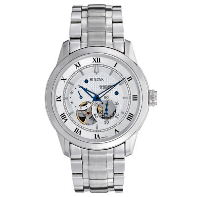 Bulova® Mens Automatic Skeleton Dial Watch 96A118