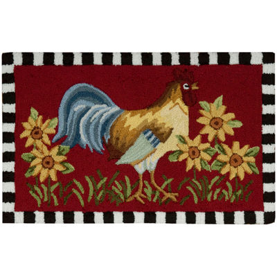 Nourison® Rooster Utility Rectangular Rug