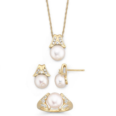 Cultured Freshwater Pearl 3 Piece Set