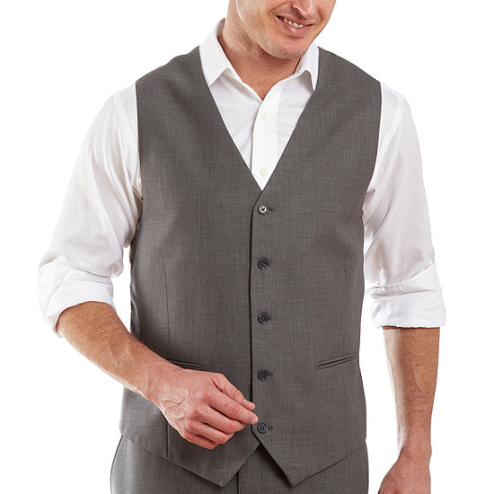 7929605a4661 JF J Ferrar Gray Sharkskin Vest