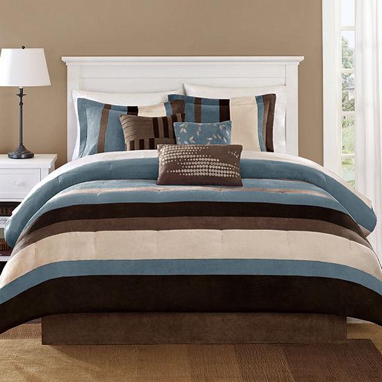 Blue Boulder Stripe 7-pc. Comforter Set