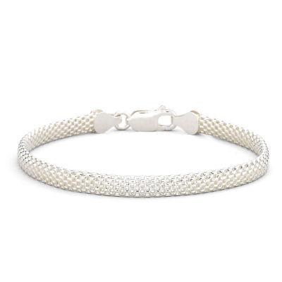 "Stering Silver 7.5"" 5mm Tulip Bracelet"