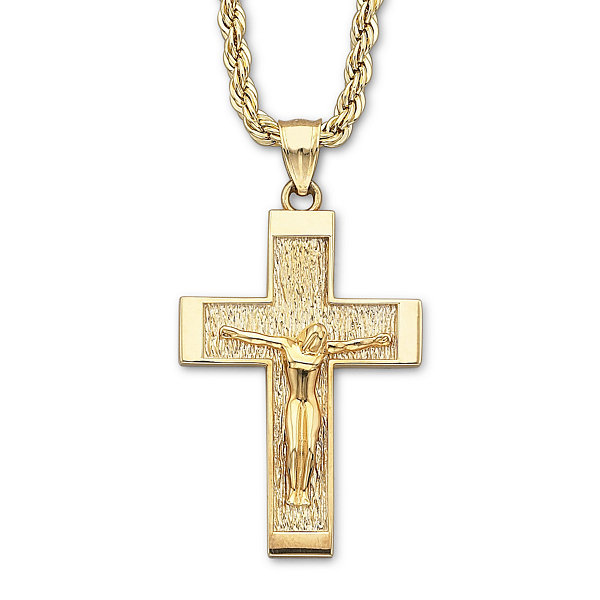 18k gold over silver crucifix pendant necklace jcpenney 18k gold over silver crucifix pendant necklace aloadofball Images